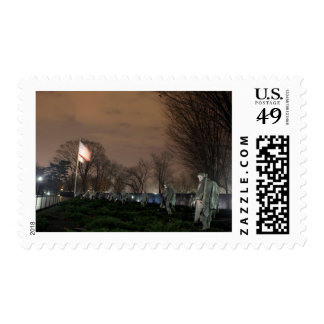 Korean War Memorial Washington Monument night Postage