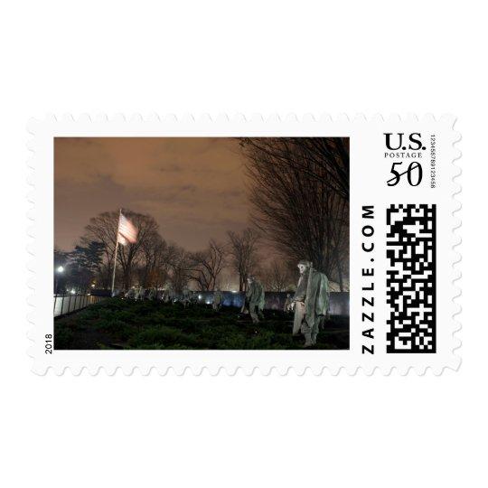 Korean War Memorial Washington Monument night Postage