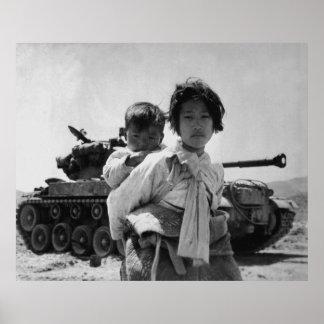 Korean War Refugee With Baby Poster
