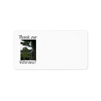 Korean War Remembrance Personalized Address Labels
