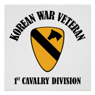 Korean War Veteran - 1st Cav Poster