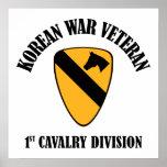 Korean War Veteran - 1st Cav Posters