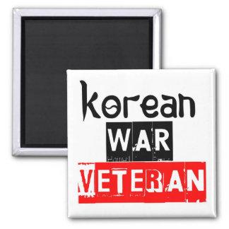 korean war veteran 2 inch square magnet