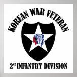Korean War Veteran - 2nd ID Print