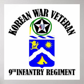 Korean War Veteran - 9th Inf Reg Posters