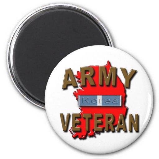 Korean+War Veteran Service Ribbon, ARMY Fridge Magnet
