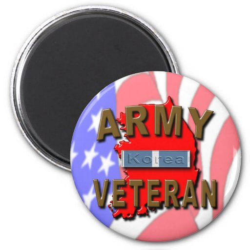 Korean War Veteran Service Ribbon, ARMY Magnets