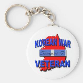 Korean War Veteran Service Ribbon, Semper Fi Key Chains