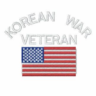 Korean War Veteran with American Flag Military Sweatshirt