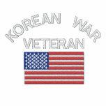 Korean War Veteran with American Flag Military Vet Sweatshirt
