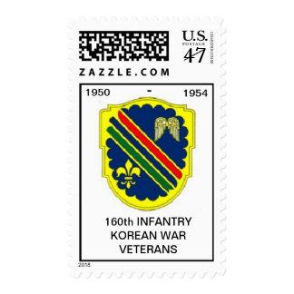 Korean War Veterans 160th Reg. Postage Stamp