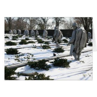 Korean War Veterans Memorial snow Greeting Card