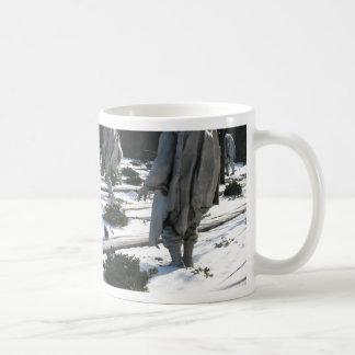 Korean War Veterans Memorial snow Coffee Mug