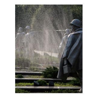 korean war veterans Status Postcard