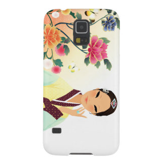 korean woman in a hanbok case for galaxy s5