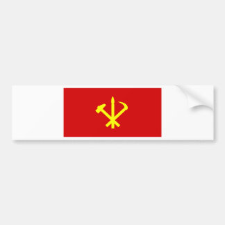 Korean Workers' Party - Korea Juche Kim Communist Bumper Sticker