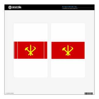 Korean Workers' Party - Korea Juche Kim Communist Kindle Fire Decals