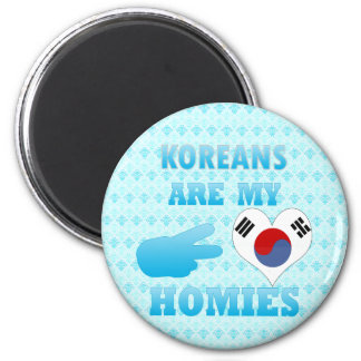 Koreans are my Homies 2 Inch Round Magnet