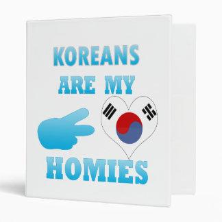 Koreans are my Homies Vinyl Binder