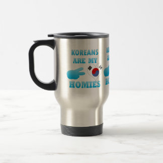 Koreans are my Homies 15 Oz Stainless Steel Travel Mug