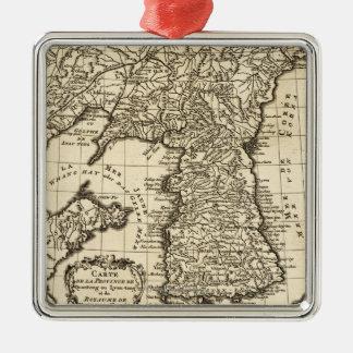 KoreaPanoramic MapKorea Metal Ornament