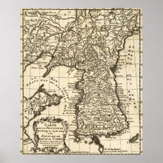 KoreaPanoramic MapKorea Póster
