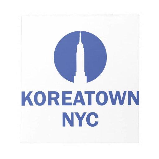 KOREATOWN NYC BLOC DE PAPEL