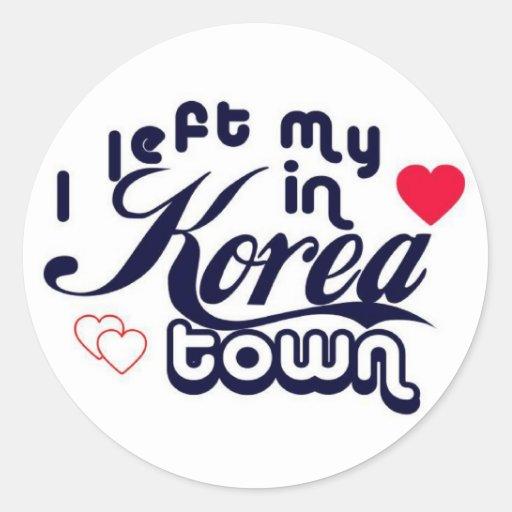 Koreatown Etiqueta Redonda