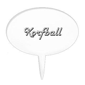 Korfball Classic Retro Design Cake Picks