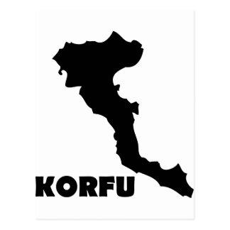 korfu corfu greek island postcard