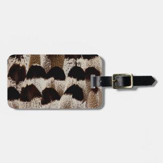 Kori Bustard feather design Bag Tag