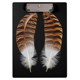 Kori Bustard Feathers Clipboard