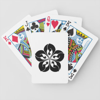 Korin-style cranes in shape of balloon flower bicycle playing cards
