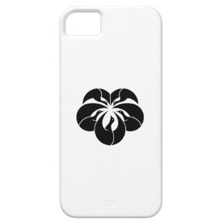 Korin-style cranes in shape of ivy leaf iPhone SE/5/5s case