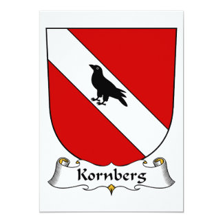 Kornberg Family Crest 5x7 Paper Invitation Card