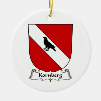 Kornberg Family Crest Double-Sided Ceramic Round Christmas Ornament