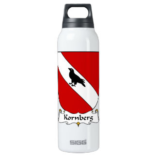 Kornberg Family Crest 16 Oz Insulated SIGG Thermos Water Bottle