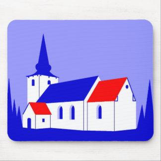 Korning Kirke - The Church in Korning Mouse Pad