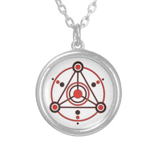 Kornkreis Piktogramm / crop circle pictogram IV Silver Plated Necklace