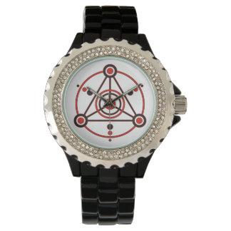Kornkreis Piktogramm / crop circle pictogram IV Wrist Watch