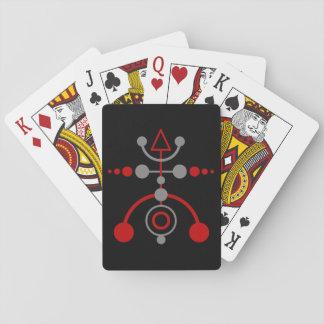 Kornkreis Piktogramm / crop circle pictogram V Poker Cards
