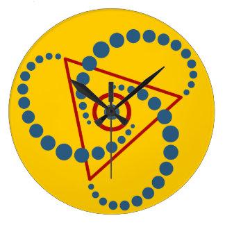 Kornkreis Piktogramm / crop circle pictogram VI Large Clock