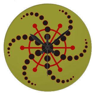 Kornkreis Piktogramm / crop circle pictogram VII Large Clock