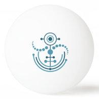 Kornkreis Piktogramm / crop circle pictogram VIII Ping-Pong Ball