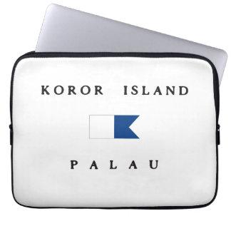 Koror Island Palau Alpha Dive Flag Computer Sleeves