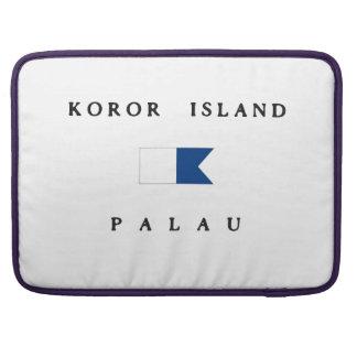 Koror Island Palau Alpha Dive Flag MacBook Pro Sleeve