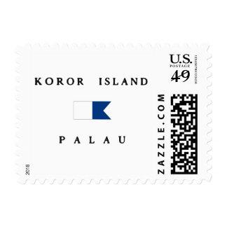 Koror Island Palau Alpha Dive Flag Postage Stamp