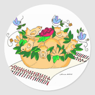 Korovai for a Ukrainian Wedding Classic Round Sticker