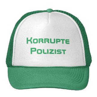 Korrupte Polizist, policía corrupto en alemán Gorra