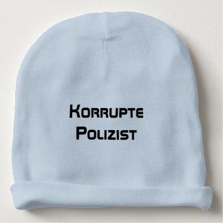 Korrupte Polizist, policía corrupto en alemán Gorrito Para Bebe
